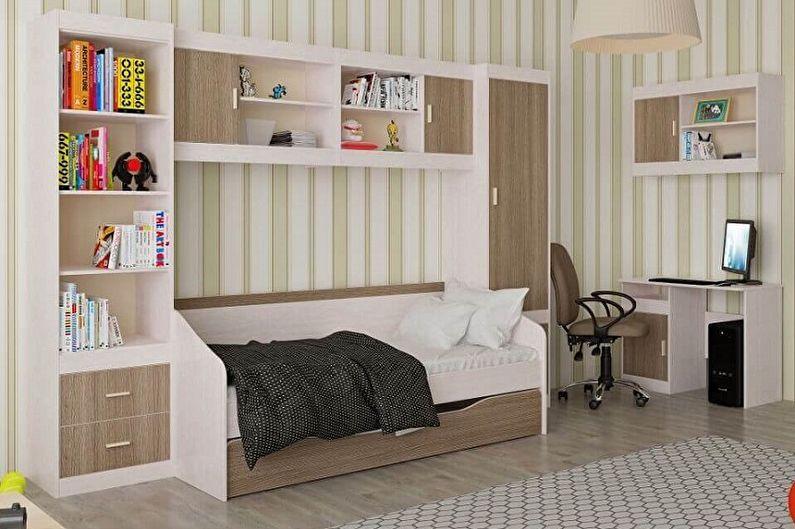 Виды односпальных кроватей - Кровать, встроенная в мебель