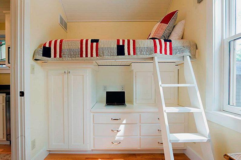 Виды односпальных кроватей - Кровать-чердак