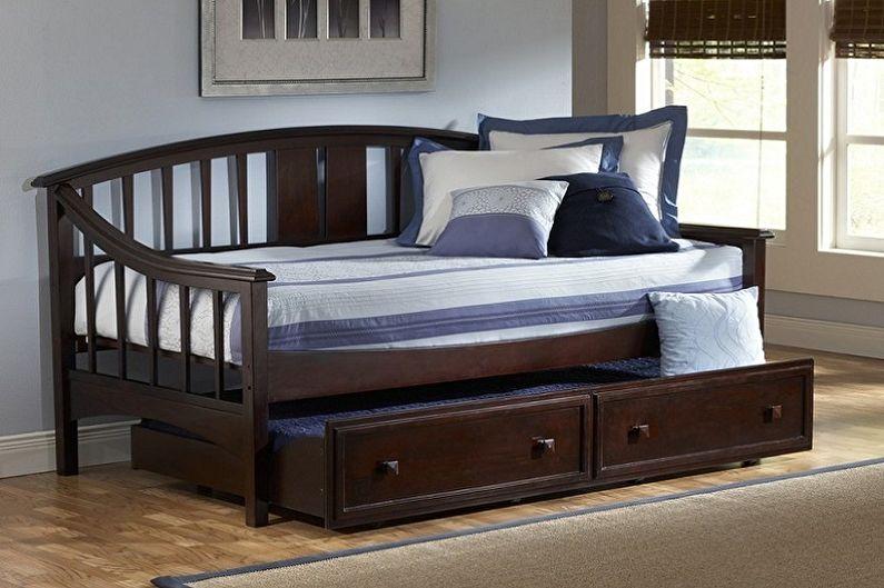 Виды односпальных кроватей - Односпальная кровать с дополнительным местом
