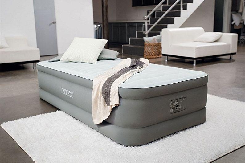 Виды односпальных кроватей - Надувные модели