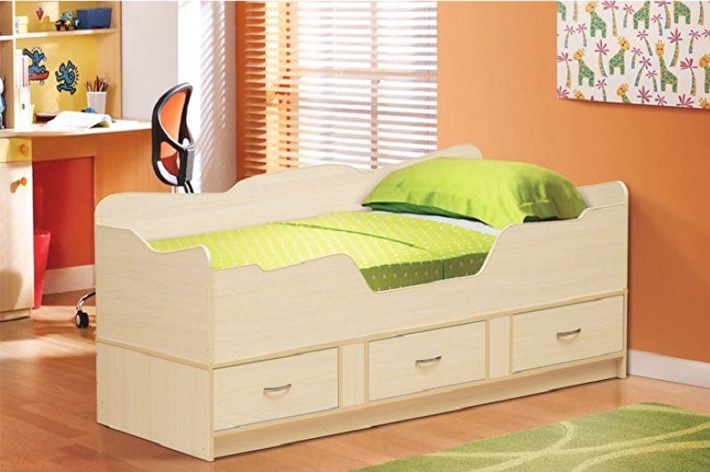 Односпальные кровати - фото