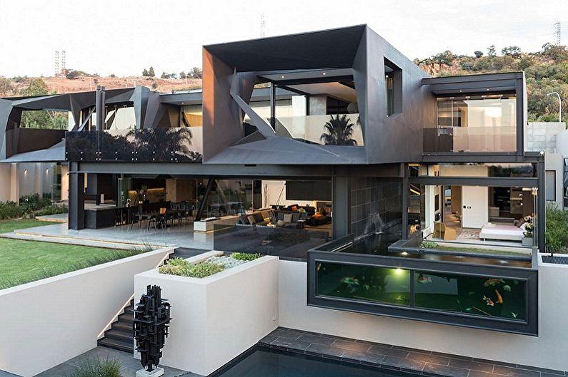 Дома в стиле хай-тек - Особенности стиля в архитектуре