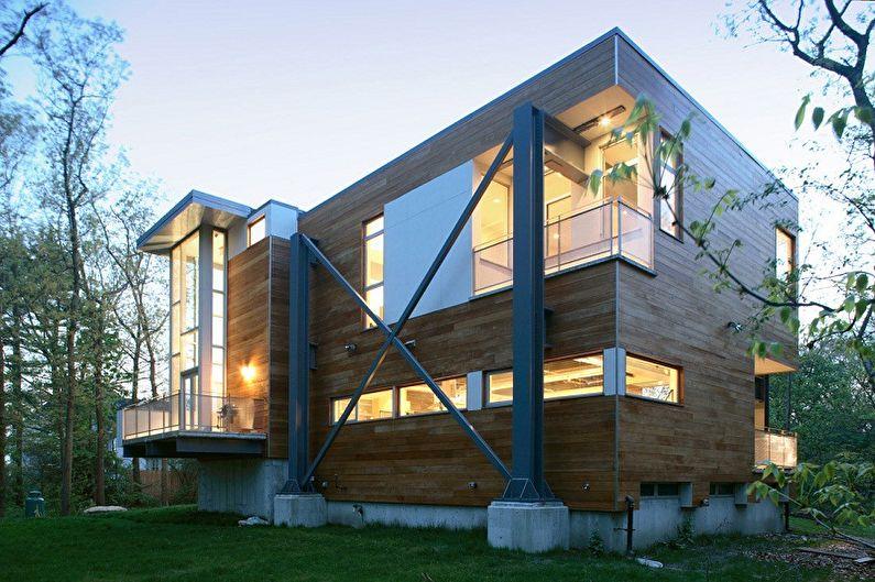 Дома в стиле хай-тек - Индустриальное направление