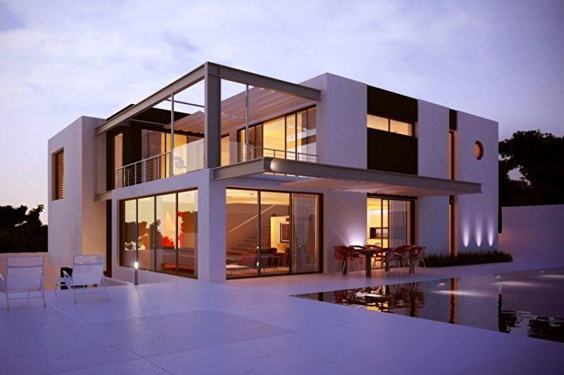 Дома в стиле хай-тек - Хай-тек с геометрической архитектурой