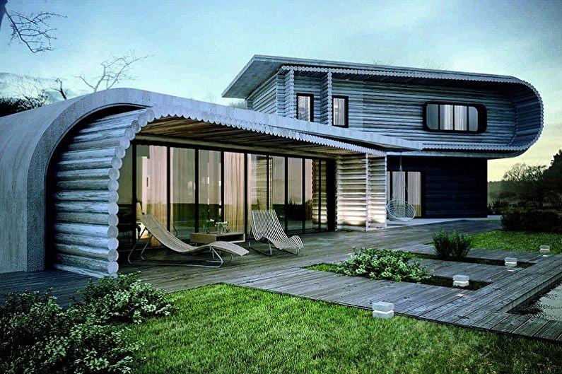 Дома в стиле хай-тек - Бионический хай-тек