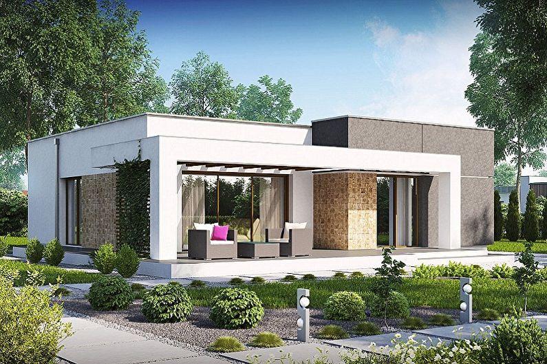Современные проекты домов в стиле хай-тек - Маленький одноэтажный дом