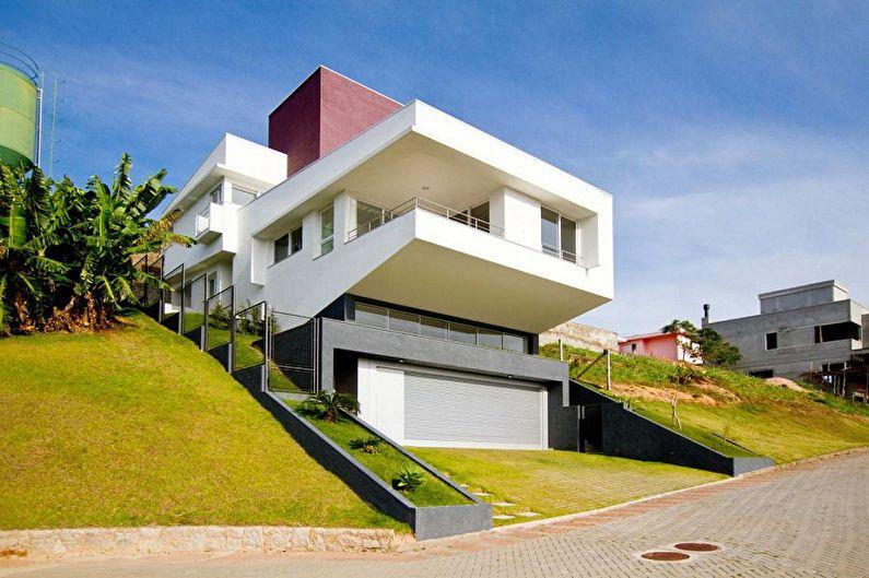 Современные проекты домов в стиле хай-тек - Шикарный дом на склоне