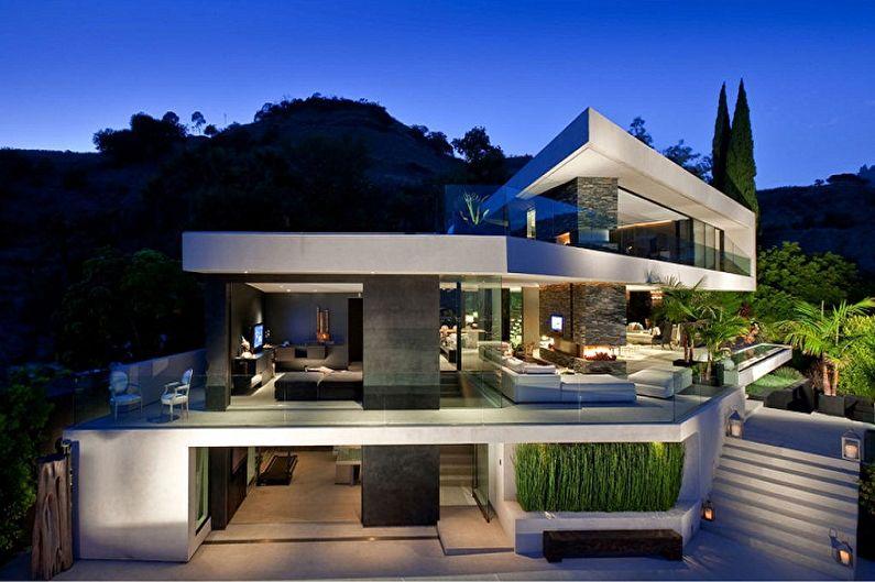 Дома в стиле хай-тек - фото и проекты