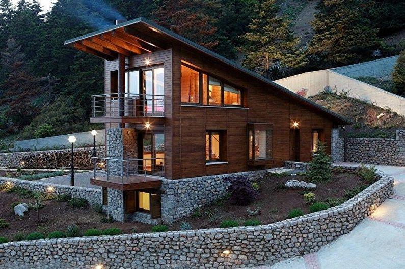 Дома в стиле шале - фото и проекты