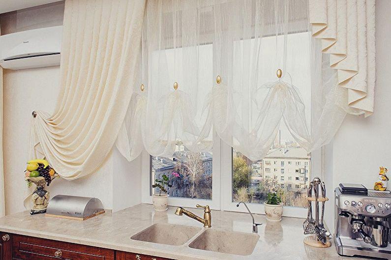 Занавески на кухню - Короткие шторы