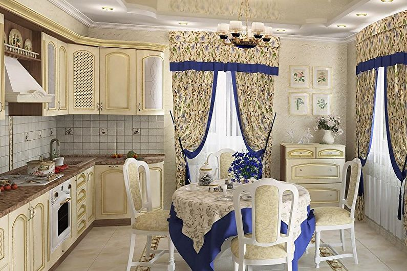 Занавески на кухню - Длинные завесы