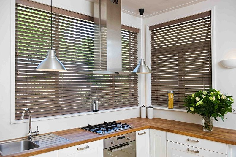 Виды занавесок на кухню - Жалюзи