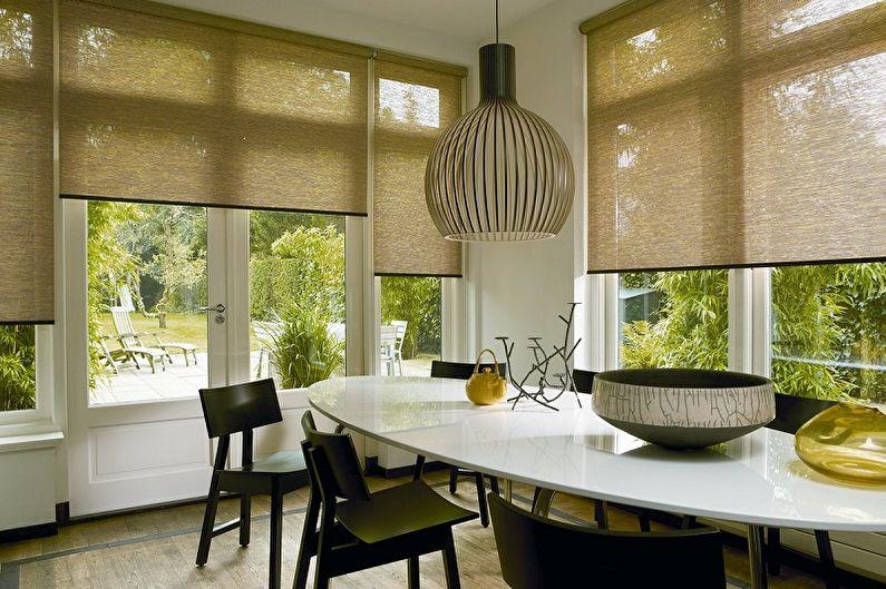 Виды занавесок на кухню - Рулонные завесы