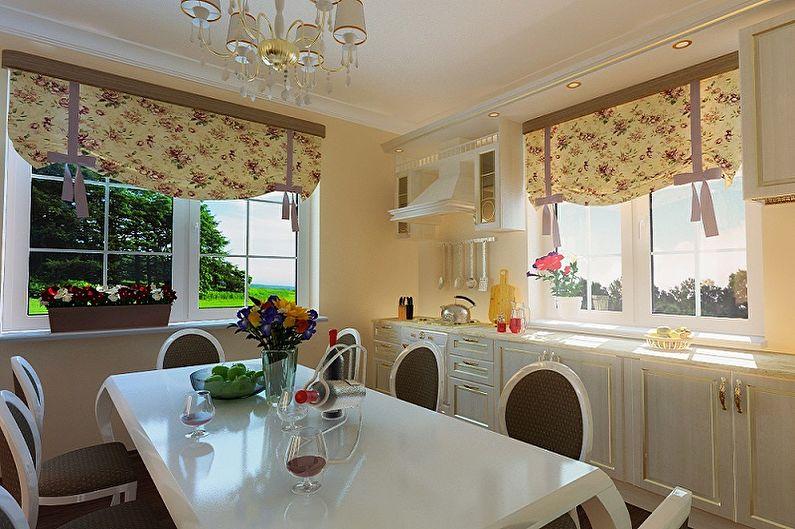 Дизайн занавесок для кухни с учетом стиля