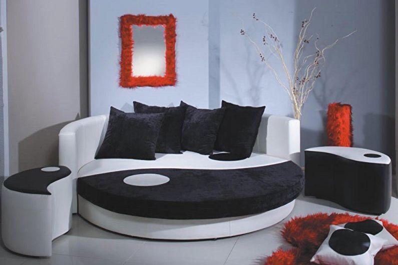 Виды круглых кроватей в спальню - Кровать-диван