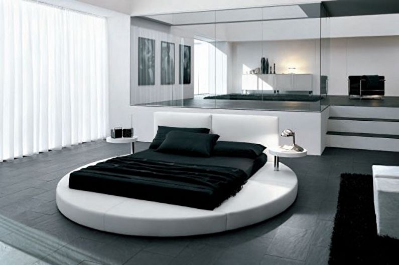 Виды круглых кроватей в спальню - Круглая кровать «минимализм»