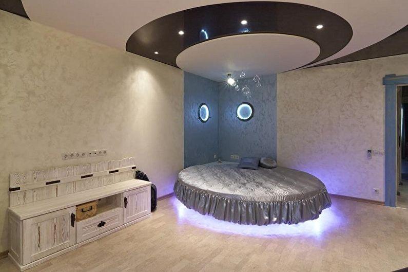 Виды круглых кроватей в спальню - Парящая кровать