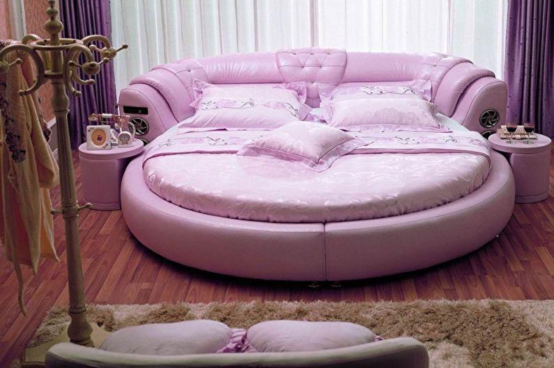Виды круглых кроватей в спальню - Круглая кровать с разнообразными функциями
