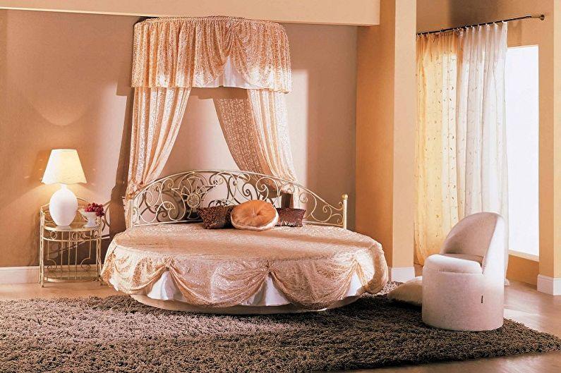 Круглая кровать в спальню в разных стилях - Прованс