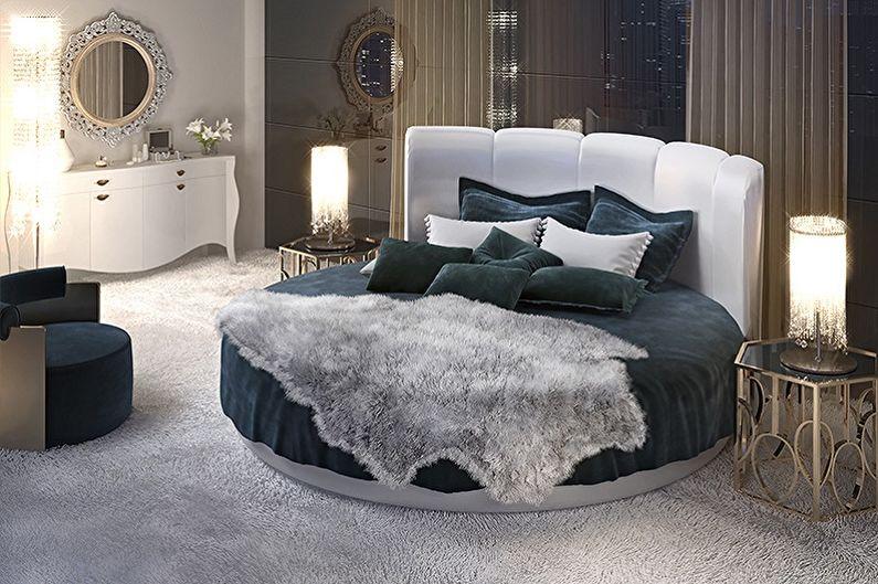 Круглая кровать в спальню - Идеи размещения