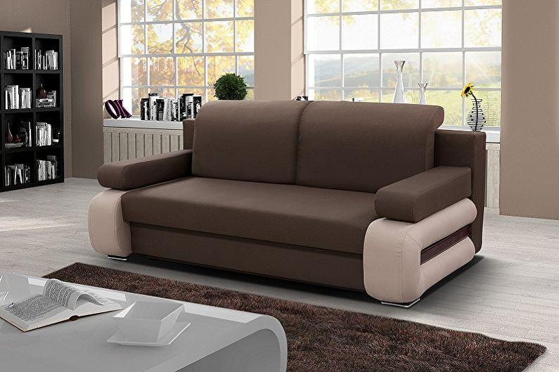 Виды диванов с ортопедическим матрасом
