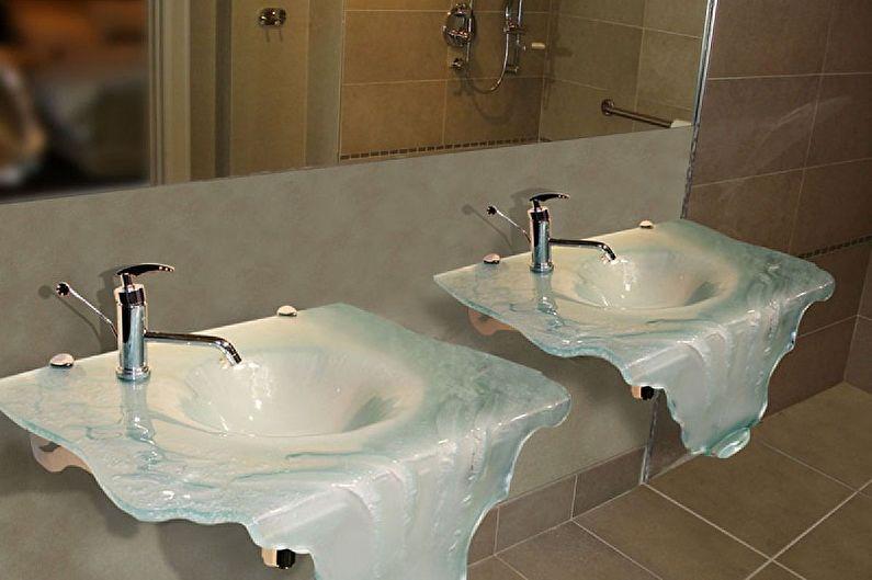 Стеклянные раковины для ванной комнаты