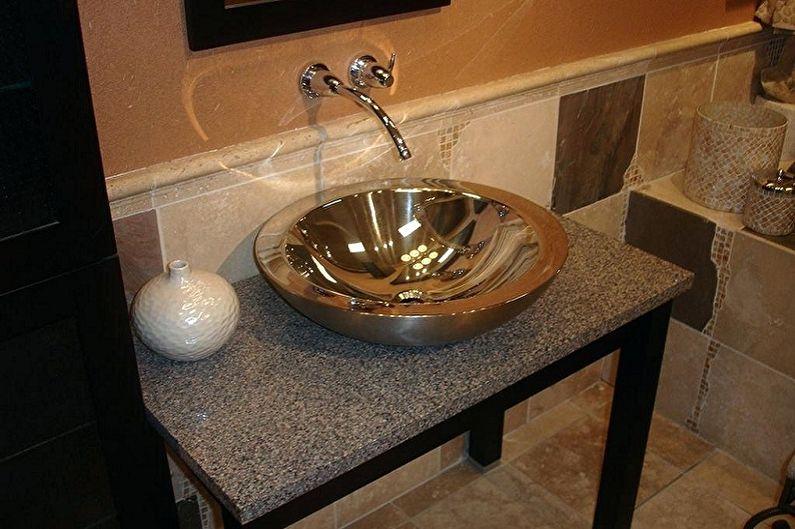 Металлические раковины для ванной комнаты