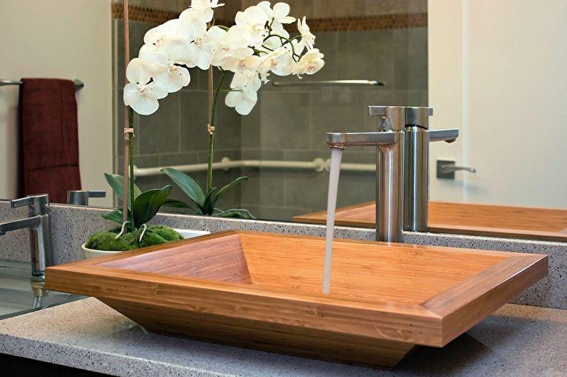 Деревянные раковины для ванной комнаты