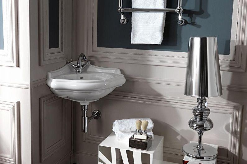 Угловая раковина для ванной комнаты