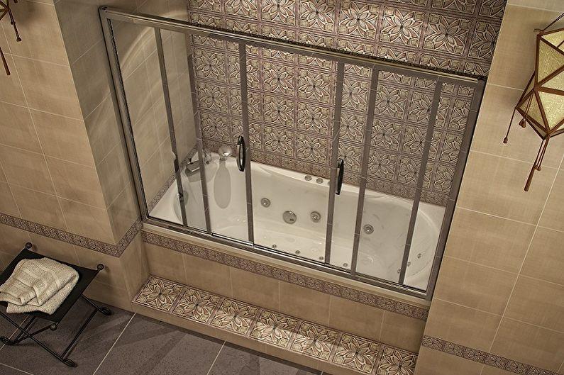 Виды стеклянных шторок для ванной комнаты - Раздвижные шторки