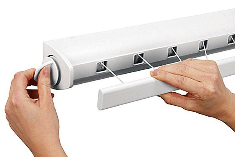 Конструкции потолочных сушилок для белья - Раздвижные сушилки