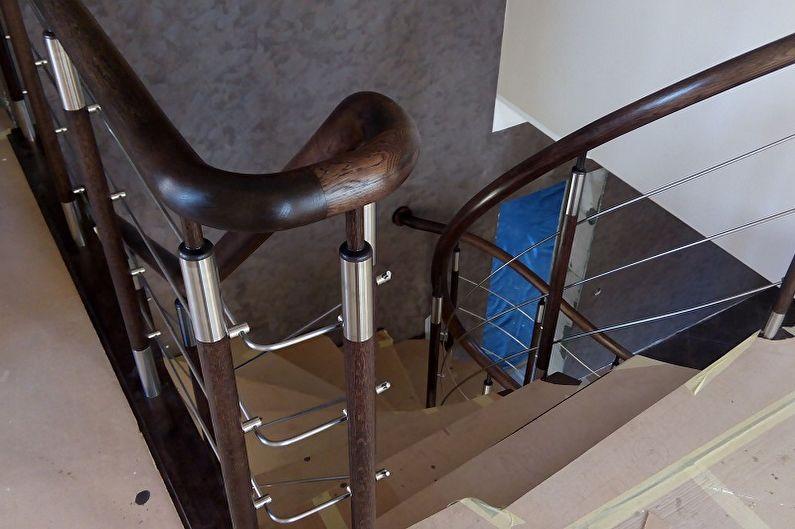 Перила для лестницы из пластика
