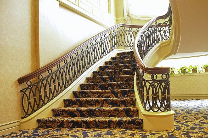 Перила для лестницы - Комбинации материалов