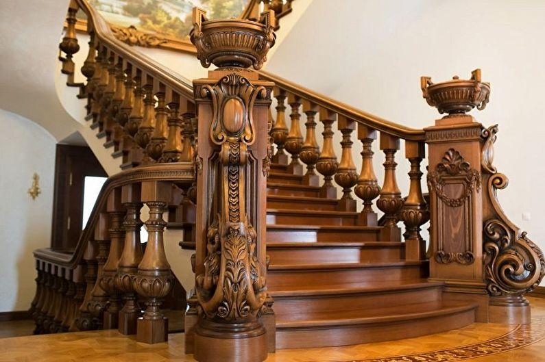 Дизайн перил для лестниц - Классика