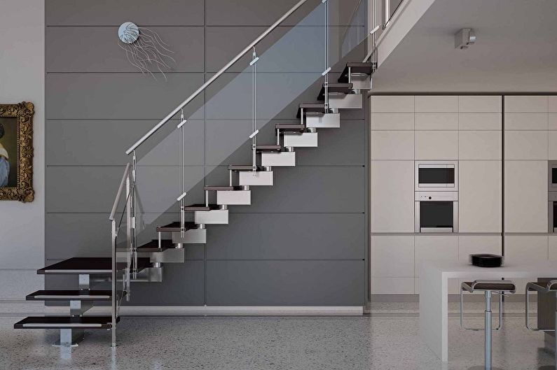 Дизайн перил для лестниц - Модерн