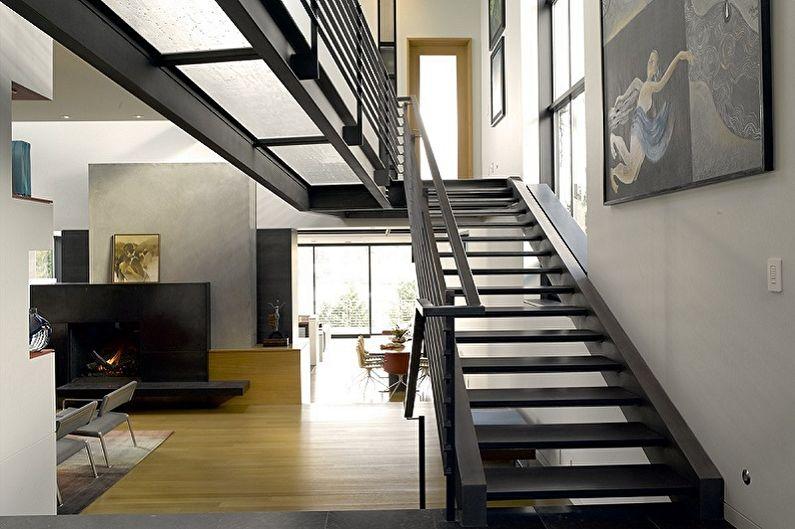 Дизайн перил для лестниц - Хай-тек