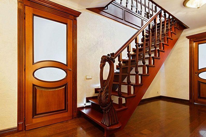 Перила для лестницы - фото-идеи