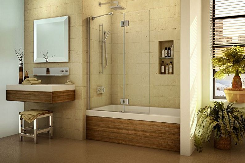 Экран для ванны - Виды