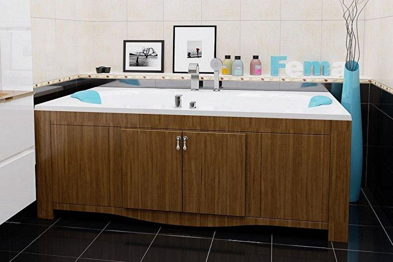 Экран для ванны - Конструктивные отличия