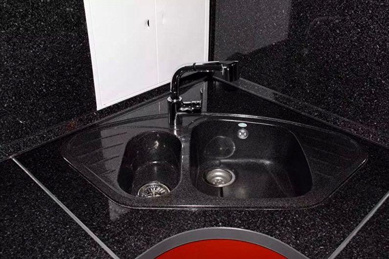 Угловые мойки для кухни - фото