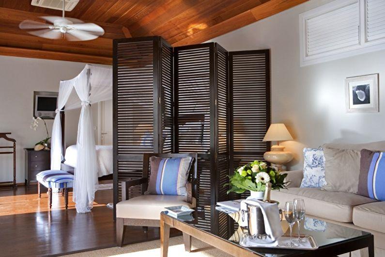 Как использовать ширму в разных комнатах - Ширма в гостиной