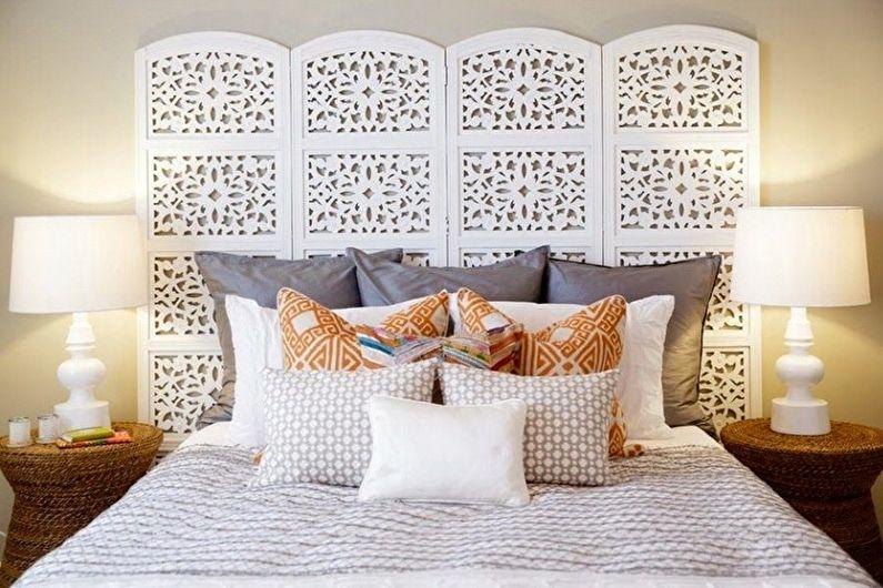 Как использовать ширму в разных комнатах - Ширма в спальне