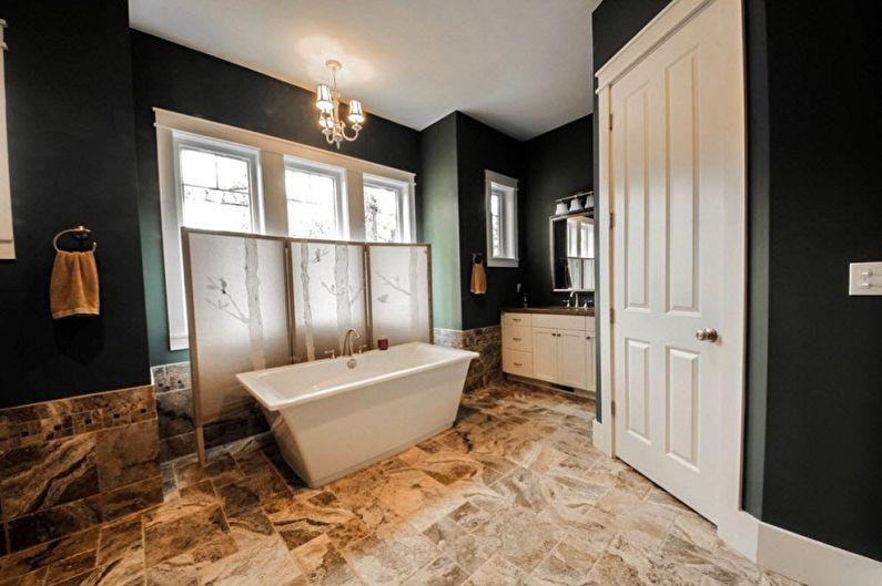 Как использовать ширму в разных комнатах - Ширма в ванной комнате