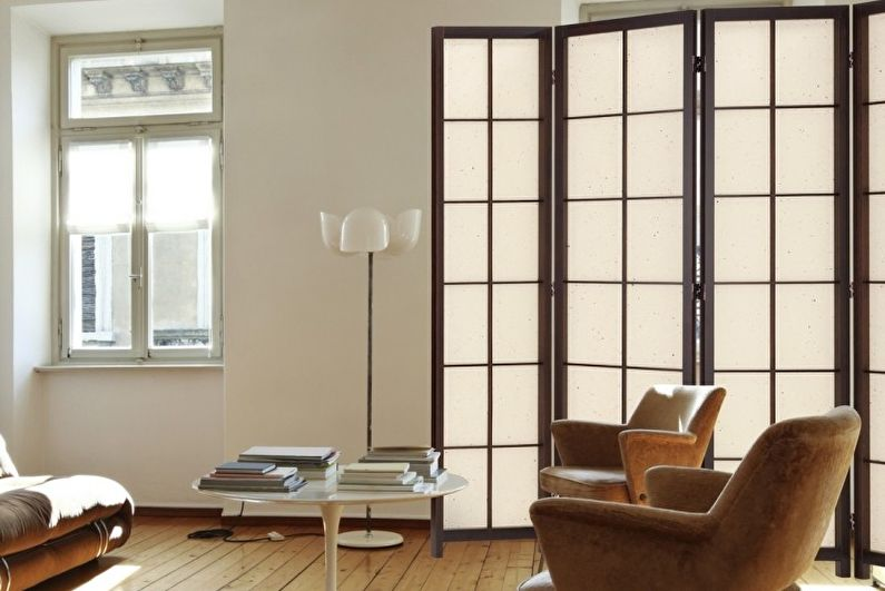 Виды и модели ширм для комнат - Многостворчатые ширмы