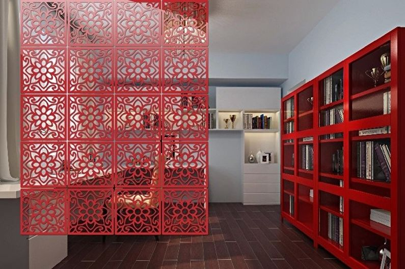 Виды и модели ширм для комнат - Подвесные ширмы-полотнища
