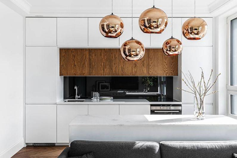 Темные стеновые панели для кухни