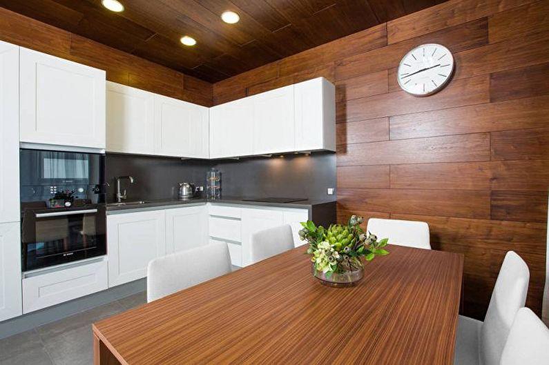Стеновые панели для кухни в древесных оттенках