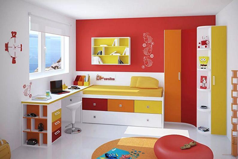 Оранжевый с красным - С какими цветами сочетается красный