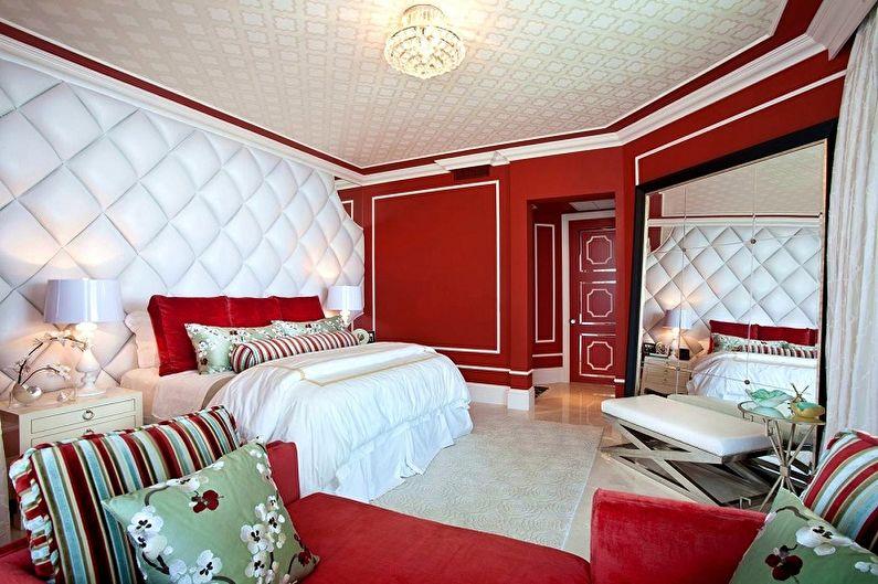 С какими цветами сочетается красный - Дизайн спальни