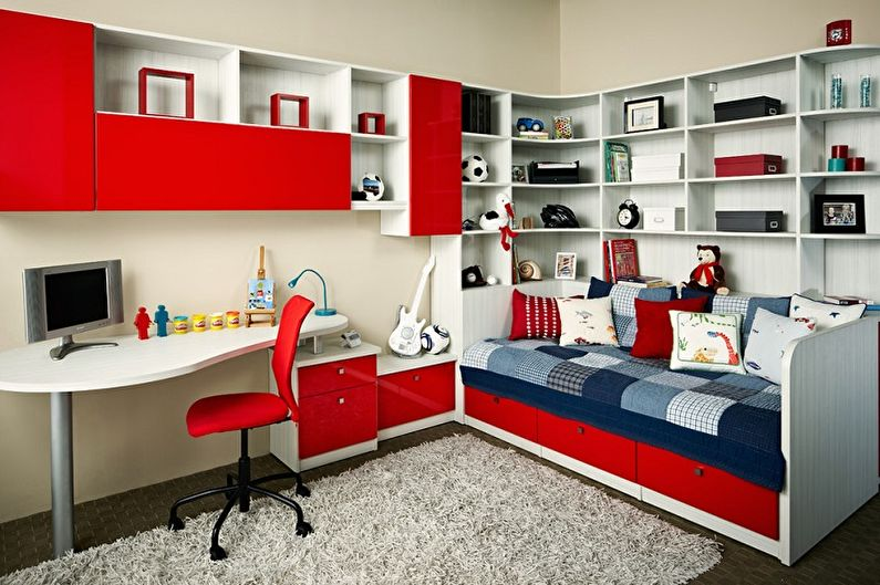 С какими цветами сочетается красный - Дизайн детской комнаты